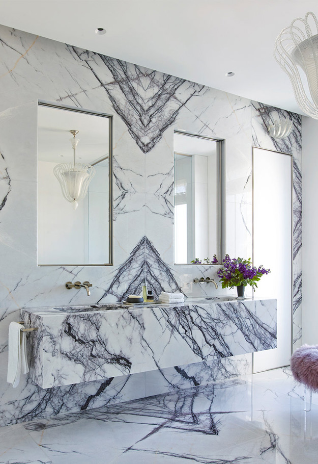 Wonderful-Penthouse-in-Chicago-Marble-Bathroom