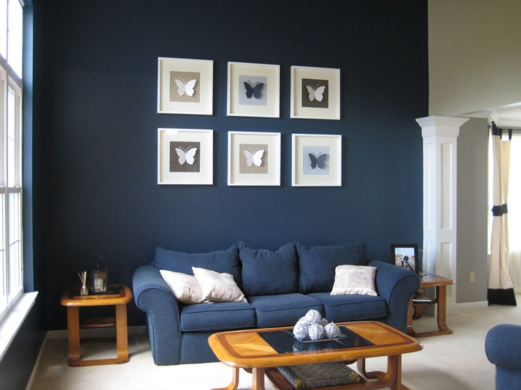 dark-blue-living-room-walls