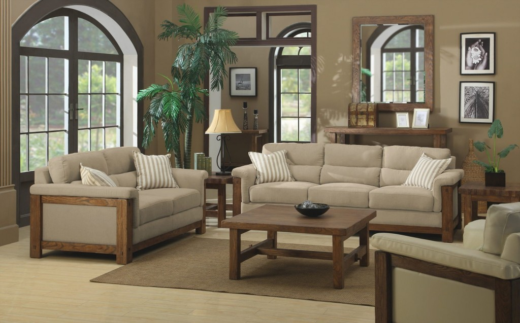 The-Country-Style-Beige-and-Brown-colors-Living-room