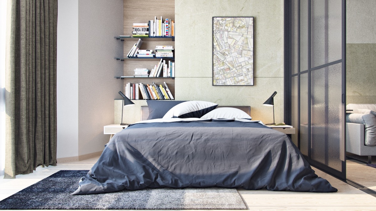 City-planning-artwork-charcoal-duvet-industrial-bedroom